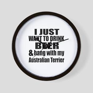 Hang With My Australian Terrier Wall Clock