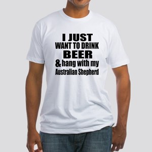 Hang With My Australian Shepherd Fitted T-Shirt