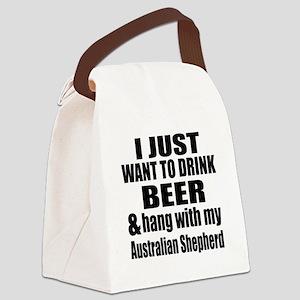 Hang With My Australian Shepherd Canvas Lunch Bag