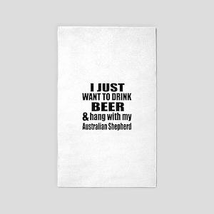 Hang With My Australian Shepherd Area Rug