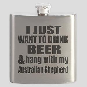 Hang With My Australian Shepherd Flask