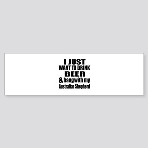 Hang With My Australian Shepherd Sticker (Bumper)