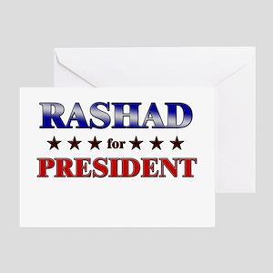 RASHAD for president Greeting Card