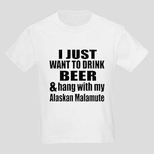 Hang With My Alaskan Malamute Kids Light T-Shirt