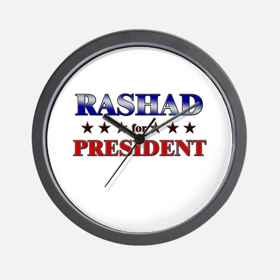 RASHAD for president Wall Clock