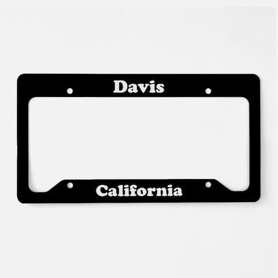 Davis CA License Plate Holder