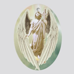 Angel Gabriel Oval Ornament
