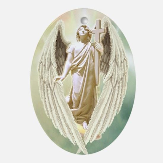 Angel Gabriel Oval Ornament