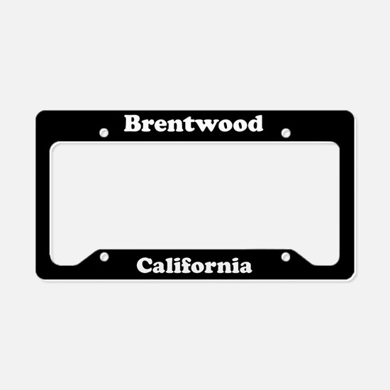 Brentwood CA License Plate Holder