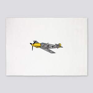 Me 109 Fighter 5'x7'Area Rug