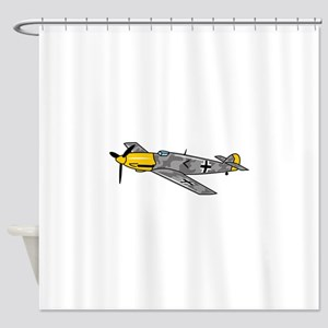 Me 109 Fighter Shower Curtain