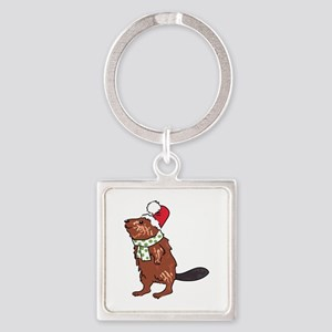 Christmas Beaver Keychains