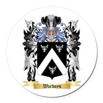 Warboys Round Car Magnet