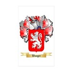Wanger Sticker (Rectangle 50 pk)