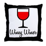 Winey Winer Throw Pillow