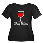 Winey Winer Women's Plus Size Scoop Neck Dark T-Sh