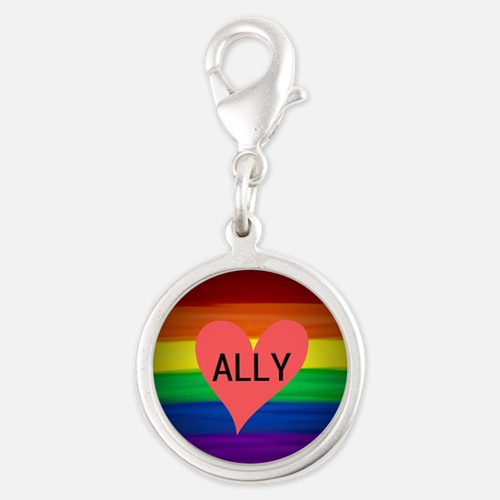 ALLY gay rainbow art Charms