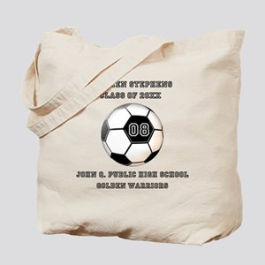 Class Year Soccer Number Name | School Tote Bag