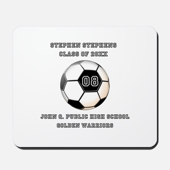 Class Year Soccer Number Name | School Mousepad