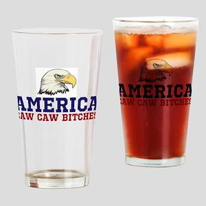 CAW CAW BITCHES Drinking Glass