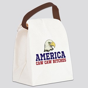CAW CAW BITCHES Canvas Lunch Bag