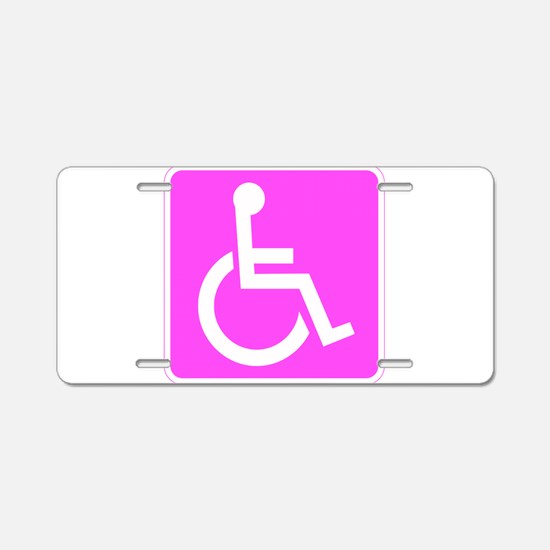 Handicapped Disabled Female Woman Aluminum License