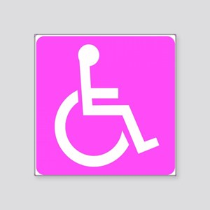 Handicapped Disabled Female Woman Sticker