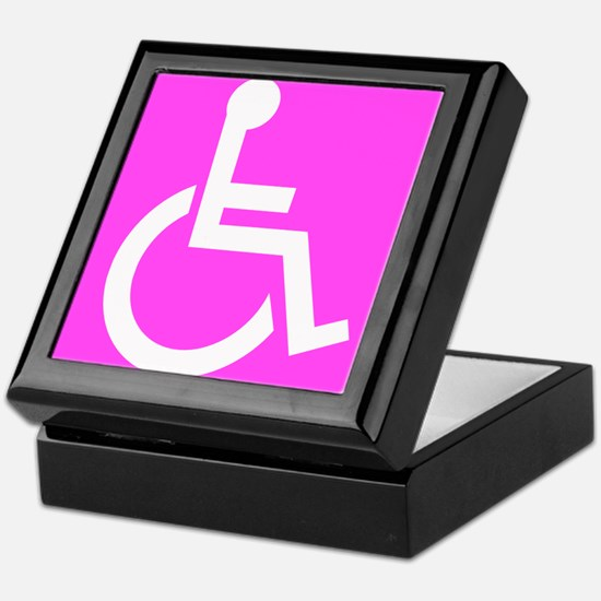 Handicapped Disabled Female Woman Keepsake Box
