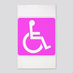 Handicapped Disabled Female Woman Area Rug