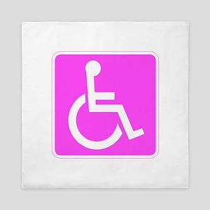 Handicapped Disabled Female Woman Queen Duvet