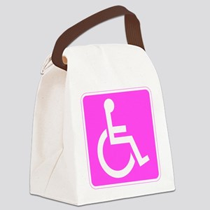 Handicapped Disabled Female Woman Canvas Lunch Bag