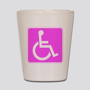 Handicapped Disabled Female Woman Shot Glass