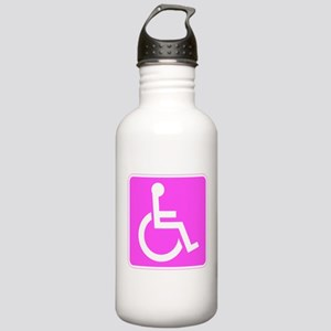 Handicapped Disabled Female Woman Water Bottle