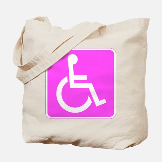 Handicapped Disabled Female Woman Tote Bag