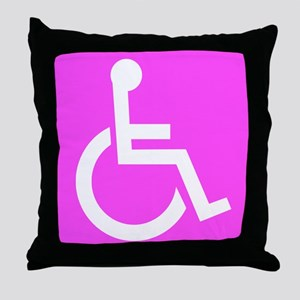 Handicapped Disabled Female Woman Throw Pillow