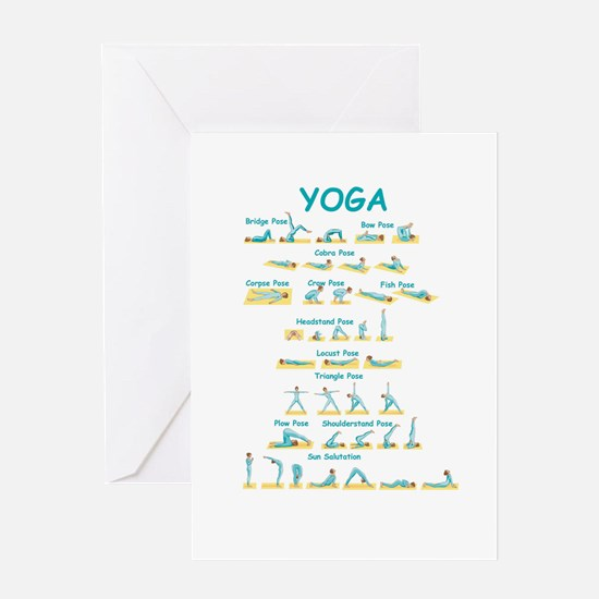 Yoga Poses Greeting Cards