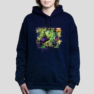 Hulk Watercolor Women's Hooded Sweatshirt