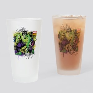 Hulk Watercolor Drinking Glass