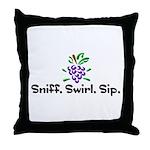 Sniff. Swirl. Sip Throw Pillow