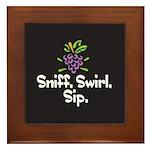 Sniff. Swirl. Sip Framed Tile