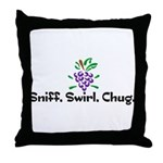 Sniff, Swirl, Chug Throw Pillow