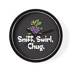 Sniff, Swirl, Chug Wall Clock