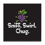 Sniff, Swirl, Chug Tile Coaster