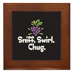 Sniff, Swirl, Chug Framed Tile