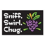 Sniff, Swirl, Chug Rectangle Sticker