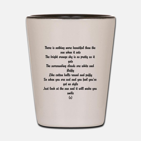 Poem about summer Shot Glass
