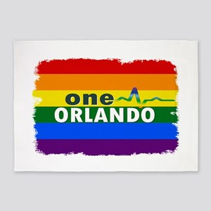 One Orlando Strong Pulse 5'x7'Area Rug