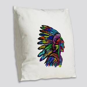 TRIBUTE Burlap Throw Pillow