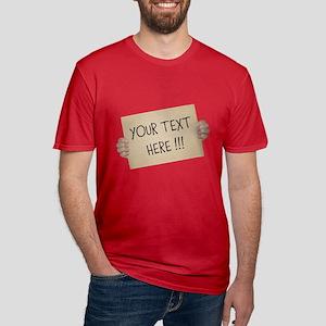 Cardboard Sign Templat Men's Fitted T-Shirt (dark)