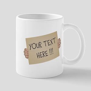 Cardboard Sign Template Mug